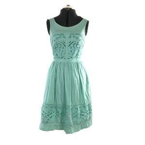 Anthropologie Meadow Rue Bottlegreen Mint Dress